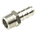 Legris Stainless Steel Hexagon Straight Tailpiece Adapter 3/8in R(T) Male Male