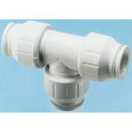 John Guest Tee PVC Pipe Fitting, 22mm