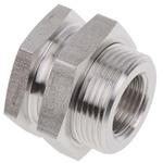Legris Stainless Steel Hexagon Straight Bulkhead Adapter 3/8in G(P) Female