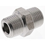 Legris Stainless Steel Hexagon Straight Coupler 1/8in R(T) Male x 1/8in R(T) Male