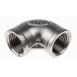 RS PRO Stainless Steel 90° Elbow 1/2in G(P) Female x 1/2in G(P) Female