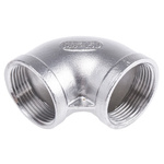 RS PRO Stainless Steel 90° Elbow 1-1/4in G(P) Female x 1-1/4in G(P) Female