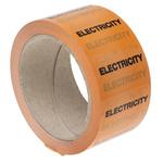 RS PRO Orange PP, Vinyl Pipe Marking Tape, text Electricity, Dim. W 50mm x L 33m