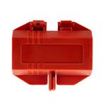 Brady 2 Lock 7mm Shackle Polypropylene Lockout Device- Red