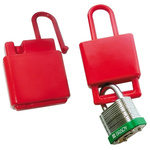 Brady 9mm Shackle Plastic Hasp Lockout- Red