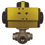 RS PRO Double Acting Actuator Valve Stainless Steel 3 Way, 1-1/4in Pipe Size