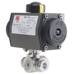 RS PRO Actuated Valve Stainless Steel 3 Way, 1/2in Pipe Size