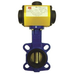 RS PRO Pneumatic Actuated Butterfly Valve EPDM Liner, 2-1/2in Pipe Size