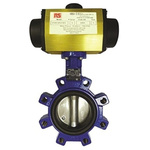 RS PRO Pneumatic Actuated Butterfly Valve Nitrile Liner, 2-1/2in Pipe Size