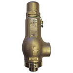 Tosaca 1216FML 2.5bar Pressure Relief Valve With BSP 1 in BSP Connection and a BSP 1 Exhaust Port