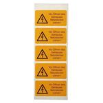 Idento Self-Adhesive Vor Öffnen des Gehäuses Netzstecker ziehen! Hazard Warning Sign (German)