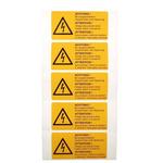 Idento Self-Adhesive ACHTUNG! Bei ausgeschaltetem Hauptschalter unter Spannung; ATTENTION! Voltage also present when