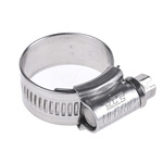 HI-GRIP Stainless Steel Slotted Hex Worm Drive, 13mm Band Width, 17mm - 25mm Inside Diameter