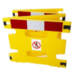 Addgards Yellow Safety Barrier, Extendable Barrier