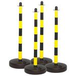 Brady Black & Yellow Retractable Bollard, Post Kit includes: Base