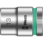 Wera 13mm Hex Socket With 3/8 in Drive , Length 29 mm