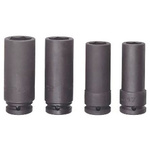 Bahco K7806M/S4 4 Piece Socket Set, 1/2 in Square Drive