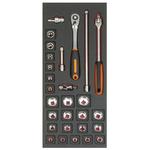 Bahco FF1E2103 28 Piece Socket Set