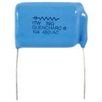 Cornell-Dubilier RC Capacitor 100nF 39Ω Tolerance ±20% 1.2 kV dc, 480 V ac 1-way Through Hole Q Series