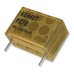KEMET Paper Capacitor 22nF 480V ac ±20% Tolerance P278 Through Hole +110°C