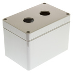Bopla Light Grey Euromas Push Button Enclosure - 2 Hole 22mm Diameter