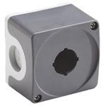 Grey Plastic ABB Modular Push Button Enclosure - 1 Hole 22mm Diameter