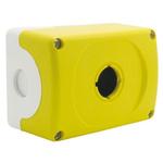 Yellow Plastic ABB Modular Push Button Enclosure - 1 Hole 22mm Diameter