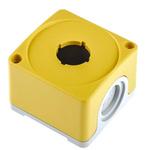Yellow Plastic ABB Compact Push Button Enclosure - 1 Hole 22mm Diameter