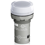 ABB, Panel Mount Clear LED Pilot Light, 22mm Cutout, IP66, IP67, IP69K, Round, 230 V ac