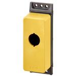 Eaton Yellow M22 Enclosure - 1 Hole 22mm Diameter