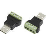 CIE, CLB-JL USB Connector, Cable Mount, Plug A, Solder- Single Port