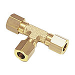 Legris 6mm Equal Tee Brass Compression Fitting