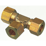Legris 8mm Equal Tee Brass Compression Fitting