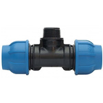 Georg Fischer 90° 90° Tee PVC Pipe Fitting, 20mm