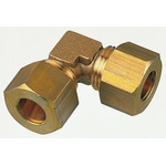 Legris 10mm 90° Equal Elbow Brass Compression Fitting