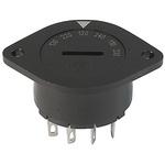 IP40 Panel Mount Rotary Switch 6PST 10 (UL) A, 6.3 (CSA) A, 6.3 (IEC) A Slot