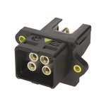 HARTING, HARTING PushPull Power Connector Cable Mount Socket, 4P, Solder Termination, 12A, 48 V