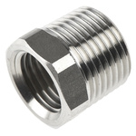 Legris Stainless Steel Hexagon Straight Reducer 3/8in R(T) Male x 1/4in G(P) Female
