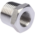 Legris Stainless Steel Hexagon Straight Reducer 1/2in R(T) Male x 1/4in G(P) Female