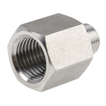 Legris Stainless Steel Hexagon Straight Increaser 1/8in R(T) Male x 1/4in G(P) Female