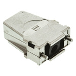 Harting D-sub Metal D-sub Connector Backshell, 9 Way, Strain Relief