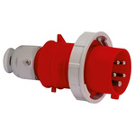Bals IP67 Red Cable Mount 3P+N+E Industrial Power Plug, Rated At 16.0A, 415.0 V