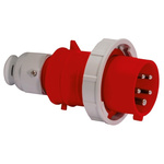 Bals IP67 Red Cable Mount 3P+N+E Industrial Power Plug, Rated At 32.0A, 415.0 V
