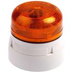 Klaxon Flashguard QBS Amber LED Beacon, 230 V ac, Flashing, Surface Mount