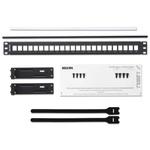Belden KeyConnect Series Cat5e, Cat6 24 Port Keystone Patch Panel 1U Black