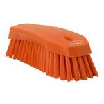 Vikan Orange 36mm Polyester Hard Scrubbing Brush for Multipurpose Cleaning