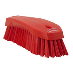 Vikan Red 36mm Polyester Hard Scrubbing Brush for Multipurpose Cleaning