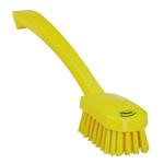 Vikan Yellow 22mm PET Medium Scrubbing Brush for Multipurpose Cleaning