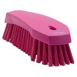 Vikan Pink 36mm PET Hard Scrubbing Brush for Multipurpose Cleaning