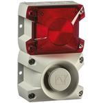 Pfannenberg PA X 1-05 Sounder Beacon 100dB, Red Xenon, 24 V dc